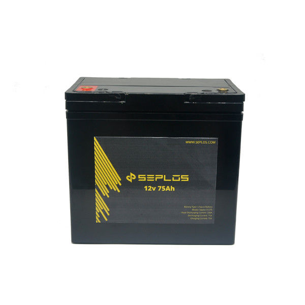 LiFePO4 Deep Cycle Storage Battery  Small 12v 75ah Lithium Ion Battery