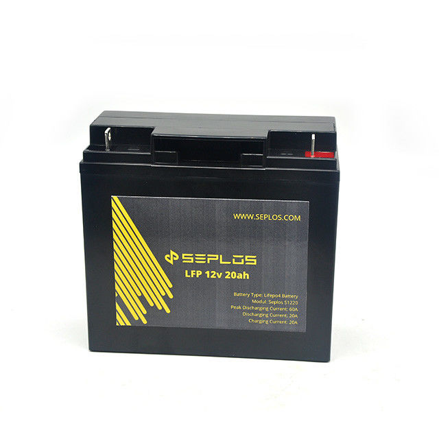 Rechargeable 12V 20AH Deep Cycle Storage Battery LiFePO4 Type